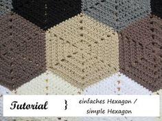 Sechseck häkeln / simple Hexagon