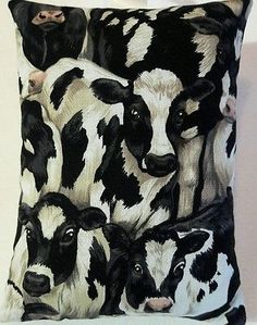 Cow Christmas Gift / Cow Fabric Lavender Bag / Dairy Cattle Stocking Filler