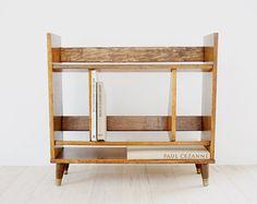 sold mid century modern walnut bookcase bookshelf danish retro peg legs