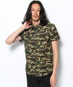 And A HOMME / 迷彩PRINT S/S SHIRTS(シャツ・ブラウス)