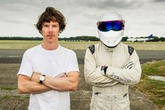Benedict Cumberbatch with the Stig.