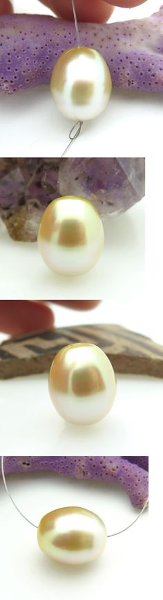 Pearl 10243: Aaa South Sea Metallic Iridescent Golden Cultured 11X13.1Mm Beautiful Pearl -> BUY IT NOW ONLY: $62 on eBay!