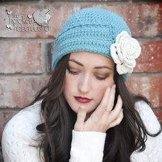 """""""Here we go friends, a new pattern release! I absolutely love the fashion of the 1900's, and the roaring 20's is one of my favorite decades for women's hats! With this week's season premiere of the..."""