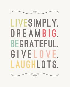 Live Simply Inspirational Quote