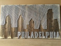 Philadelphia Skyline String Art