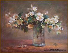 """""""Flowers in a glass vase"""" By Javad Soleimanpour, from Tebriz, Iran (current location, Istambul) (b. Art Floral, Pastel Drawing, Pastel Art, Painting & Drawing, Portraits Pastel, Artsy Photos, Still Life Art, Painting Inspiration, Flower Art"""