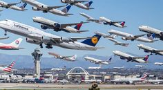 Incredible Photograph Captures 8 Hours of Plane Departures - My Modern Metropolis