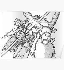 Ashitaka Posters Naruto Painting Coloring Pages Princess Mononoke