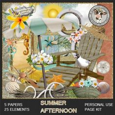 Summer Afternoon Mini Kit by Lightening Bug Creations