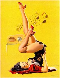 pin-up art.