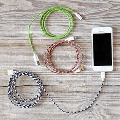 Fabric-Wrapped Charging Cable #eventplanner #giftguide