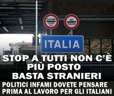 Via immigrati da l'Italia