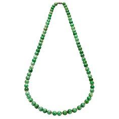 Natural Jadeite Necklace With Crystal Spacers