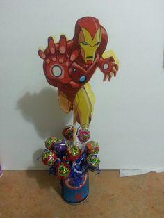 iron man centerpiece Iron Man Theme, Iron Man Party, 4th Birthday, Birthday Ideas, Ballon Decorations, Avengers, Centerpieces, Birthdays, Parties