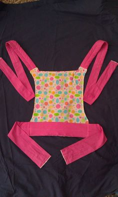 Child sized Mei Tai baby doll carrier. Danika totally needs this!