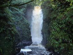 Cranny Falls above Carnlough in County Antrim