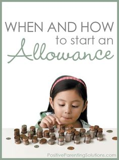 """When and how to start an allowance. 'By focusing on the payoff for the chore rather than the contribution made to the family, we create – and reinforce – a negative lesson. Rather than encouraging our child doing something for its intrinsic value, we instead teach them to ask, """"What's in it for me?""""'  Interesting lesson on contributing to the family rather than chores."""