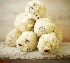 An alternative to truffles, these chocolatey bitesize treats contain Maltesers, coconut, marshmallow, cranberries and rich tea biscuits - perfect for making with kids