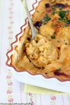 Three Cheese Pasta Shells and Cauliflower