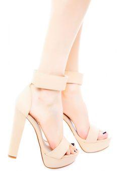 d952e639e6d Nude platform sandals heels