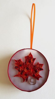"""Quilling Laterne """"Ahorn"""" Preis 8 € Durchmesser 13,7 cm Quilling, Christmas Ornaments, Holiday Decor, Home Decor, Random Stuff, Bedspreads, Decoration Home, Room Decor, Christmas Jewelry"""