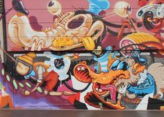 Following their recent Weird Supper, European collective The Weird Crew's latest offering is a twisted little spin on Disney characters. Members including the Low Bros, Nychos, Cone, Sumo, Vidam, Dexter, Rookie, Frau Isa, HrvBias, Look and Spike contributed to the wall in Differdenge, Luxembourg. - See more at: http://www.acclaimmag.com/arts/visual-feed-the-weird-disney/#3