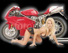 Ducati 999s and Petra Morgan.