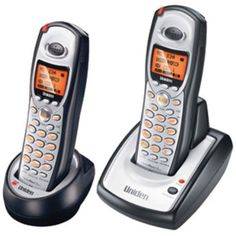 Uniden TRU8860-2 5.8 GHz Digital Cordless Phone with Dual Handsets and Caller ID (Black/Silver)