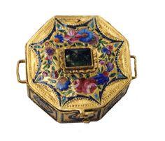 Persian Qajar Dynasty Ename Box. Jewelry Repair and Restoration.