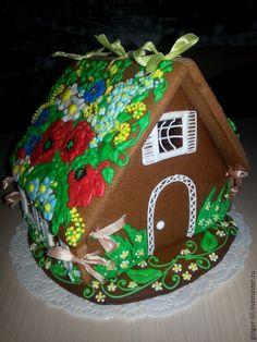 """Пряничный домик """" Полевые цветы"""" - пряник расписной, пряники, пряничный домик"""