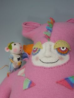 Barby Anderson mouse & I believe the monster is by pip's poppies
