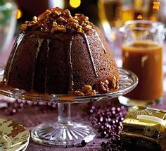 Blitz-&-bake sticky toffee Christmas pud recipe - Recipes - BBC Good Food // May have to try this one!!