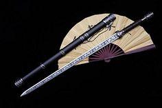 "Chinese sword/Wolong jian/Stainless steel carving blade/Alloy scabbard/Alloy fittings/Length 39"" longquan sword http://www.amazon.com/dp/B018K0MYRI/ref=cm_sw_r_pi_dp_DjXvwb0Q9E06E"