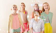 Ropa en colores suaves para niñas Bengh per Principesse http://www.minimoda.es