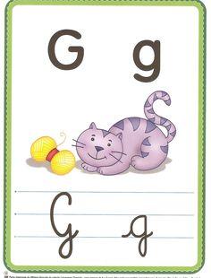 Fichas con las letras del abecedario, con imágenes y las letras en mayúsculas y minúsculas. Ideales para trabajar con los más peques.
