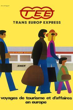 Trans Europ Express poster, 1977 | Guy Georget, SNCF
