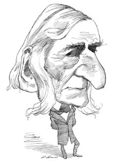 Ralph Waldo Emerson by David Levine | The New York Review of Books