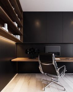 Work space can arrive in all sorts of layouts, and this inspirational gallery of work desk and work room will show you many different different options. Not everyone is lucky enough to find another room to their home office. And… Continue Reading → Modern Office Design, Contemporary Office, Office Interior Design, Office Interiors, Contemporary Design, Office Designs, Contemporary Bathrooms, Home Office Setup, Home Office Space