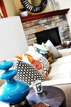 lamp & pillows, love it!