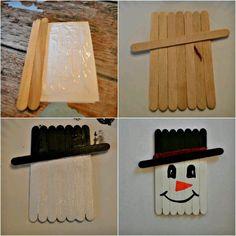 Craft sticks snowmen