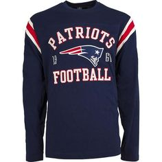 Show your team pride in this New England Patriots premium heavyweight long  sleeve t-shirt. Own the perfect tee to wear while watching your favorite NFL  team ... 1c44c3a5b