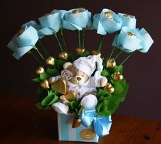 teddy bouquet (Chocolate Box Bouquet)