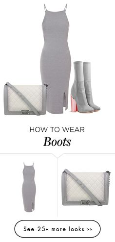 """Dior Boots"" by le-lola on Polyvore featuring moda, Glamorous y Chanel"
