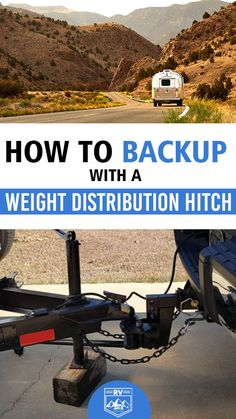 Can You Backup with a Weight Distribution Hitch? Best Travel Trailers, Travel Trailer Camping, Rv Travel, Travel Hacks, Travel Tips, Light Trailer, Small Trailer, Rv Camping Tips, Camping Ideas