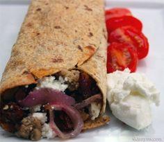 Skinny Greek Turkey Wrap