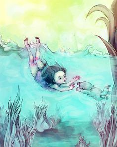 """Sea Mermaid""   2010: Children Illustrations by Sara Wilson, via Behance"
