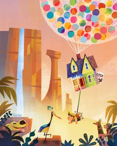 Here are some of the exclusive art pieces I did for Disney's WonderGround gallery. You can find them at the downtown Disney's WonderGround gallery/ Disneyworld's co-op market place. Disneyland's… Cute Disney, Animation Art, Disney Up, Animation, Disney Wallpaper, Disney Art, Disney Magic, Disney And Dreamworks, Disney Posters