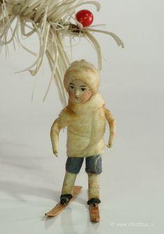antikes Wattekind  spun cotton child
