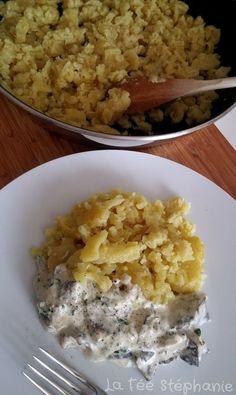 La Fée Stéphanie: L'Alsace à table: spaetzle végétaliens faits maison et poêlée de pleurotes à la crème