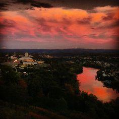 #WVU #Morgantown #sunset | Instagram photo by @_closeencounter